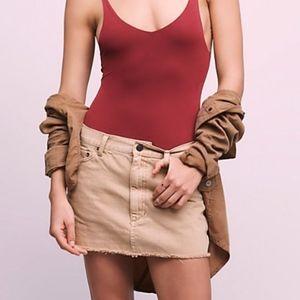 FP Tan Denim Mini Skirt